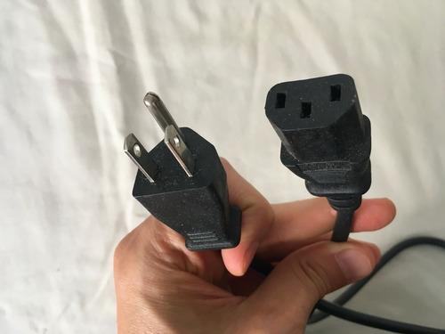 Cable Negro Para Computadora, Impresora, Monitor - 220v