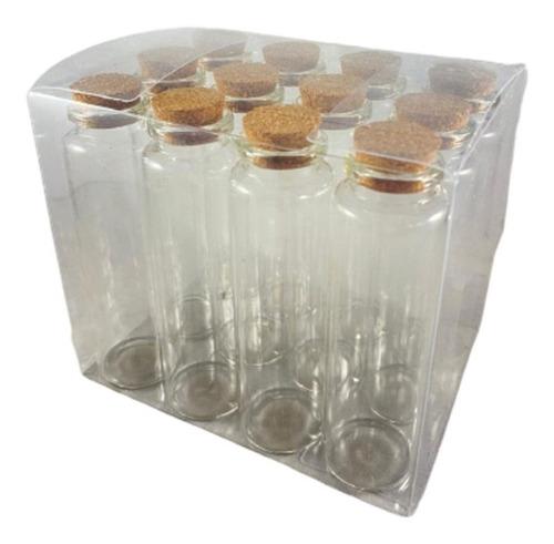 Botella Vidrio Tapa Corcho X12 3x10cm