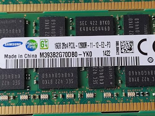 Memória Servidor Workstation Samsung 16gb 2rx4 Pc3l 12800r