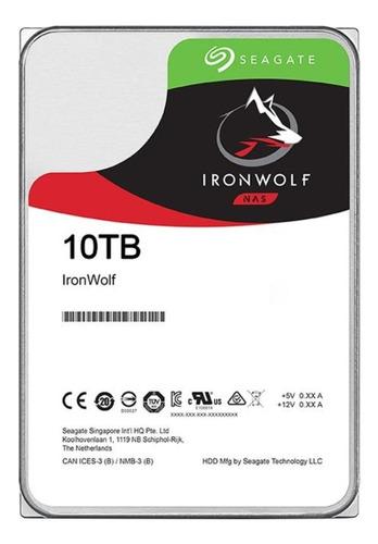 Disco Rígido Interno Seagate Ironwolf St10000vn0008 10tb