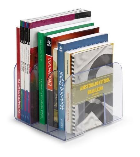 Suporte Organizador Livros Revista 3 Divórias Cristal Waleu