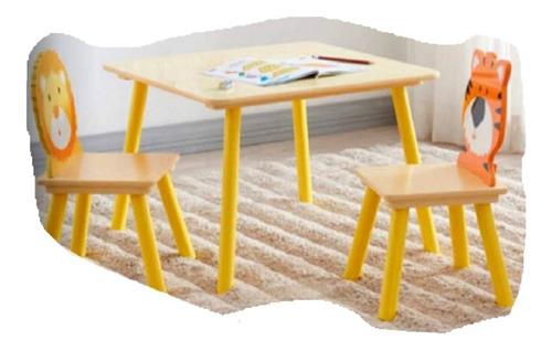 Mesinha Para Criança Com 2 Cadeiras Estudo Brinquedoteca