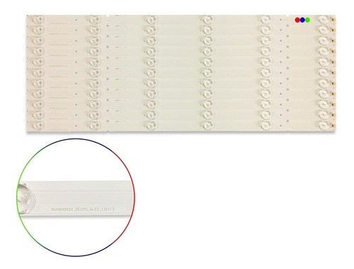 Kit Leds Hisense 50k20dw, 50k20d, 50k20dg - Aluminio, Nuevo.