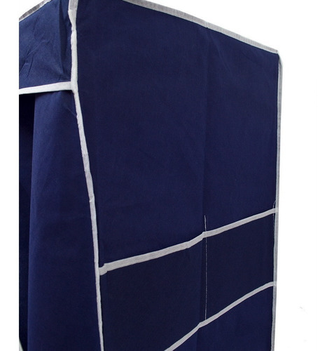Navy Blue Large Print Armable Closet R87 - Ecart