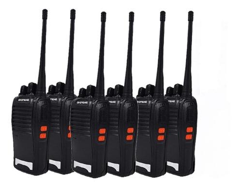 Kit 6 Rádios Comunicador Walk Talk Baofeng - Bf - 777s
