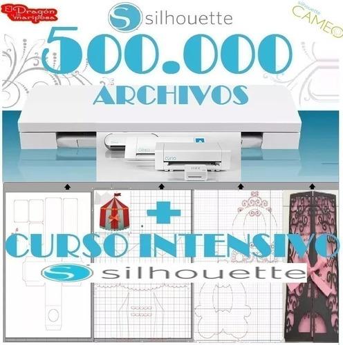 500.000 Archivos Silhouette Corte Cameo Curio + Curso Studio