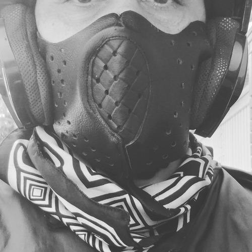Mascara De Cuero Con Filtro De Aire Ideal Para Moto