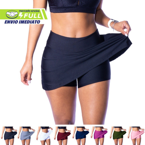 Short Saia Fitness Roupa Feminina Academia Suplex Atacado