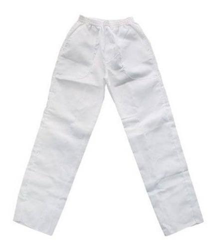 Calça Brim Pesado Branca Uniforme Uso Profissional Algodão