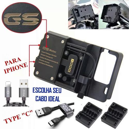 Suporte Adaptador Celular Gps Para Bmw R 1250 R 1200 Gs