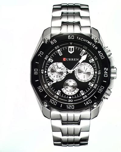 Relógio Masculino Prata Curren Original 8077 Nota Fiscal