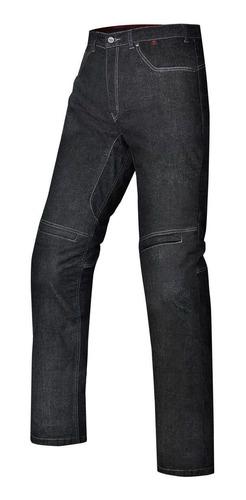 Calça Jeans Masculina Ride X11 Slim Preta Moto Com Proteção
