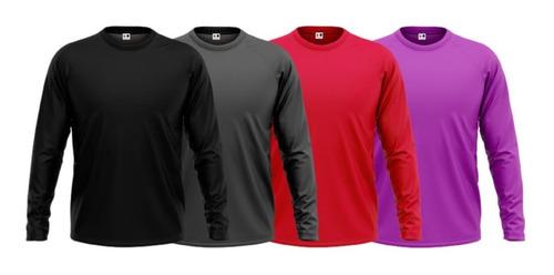 Camisa Camiseta Protecao Uv50 Termica Segunda Pele Treino
