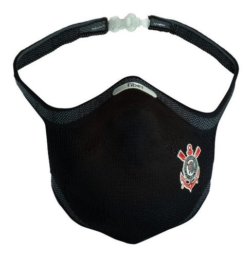 Máscara De Proteção Do Corinthians Fiber Knit 3d Com1 Refil