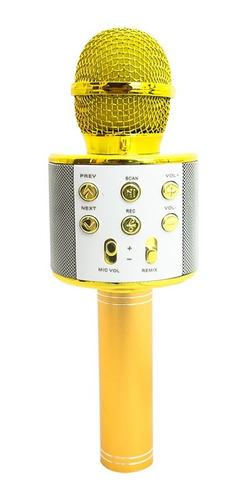 Microfone Karaokê Bluetooth Rádio Modo Gravação Modo Selfie