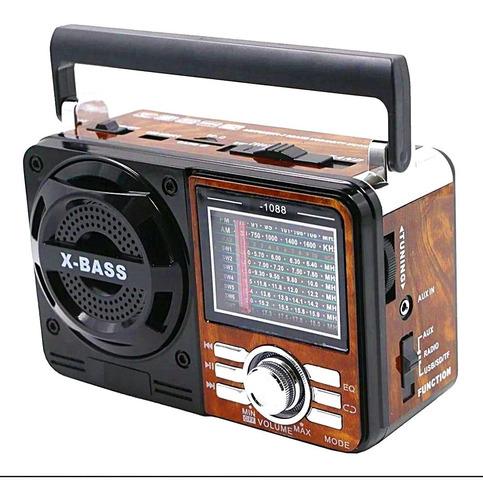 Rádio Bass Retro Vintage Caixa De Som Usb Mp3 A-1088