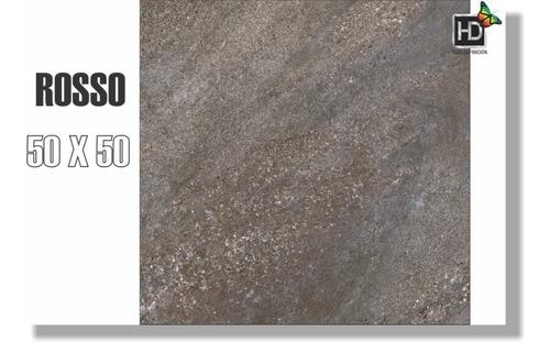 Ceramica 50x50 Granito Rosso Porfido Vereda Patio
