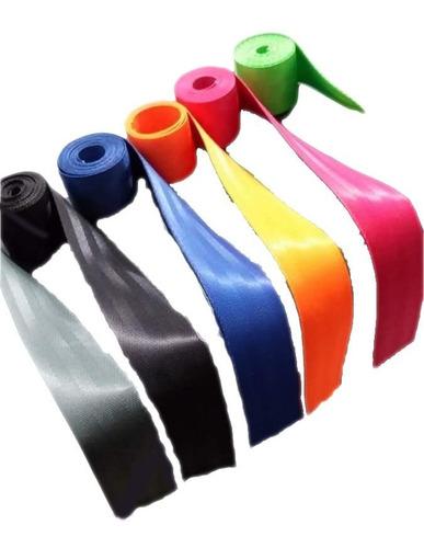 Reata Cinturón Por Metro Nylon Carro 2 Pulgadas Colores