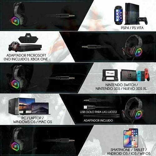 Audifonos Gamer Onikuma K10 Rgb Pc Laptop Ps4 Xbox One S, X - Ecart