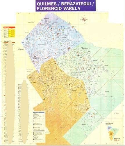 Mapa Florencio Varela - Berazategui- Quilmes