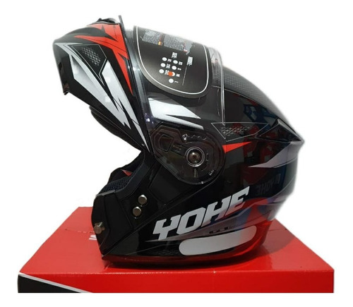 Capacete Moto Articulado Robocop Yohe New Pratik Scorpion