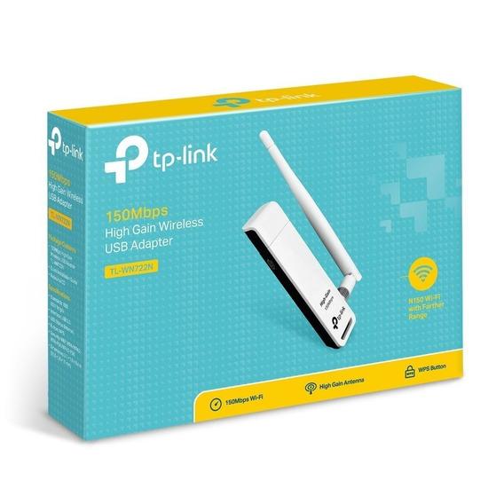 Placa De Red Tp-link Tl-wn722n 150mb Wifi Usb Wireless