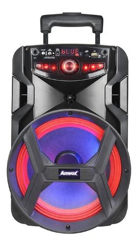 Caixa De Som Bluetooth Amplificada Amvox Aca 250 Groove 250w
