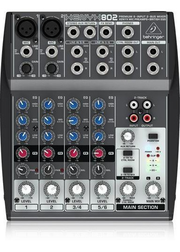 Behringer - Xenyx 802 - Consola 8 Ch, 2 Buses