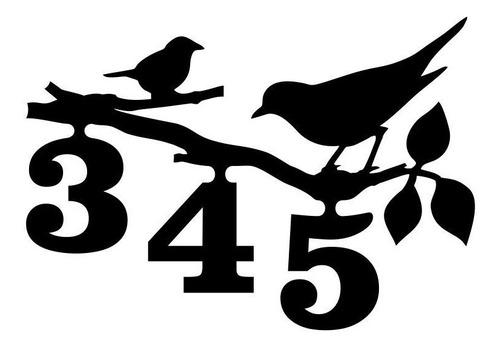 Placa Numero Residencial Artesanal Personalizado Passarinho