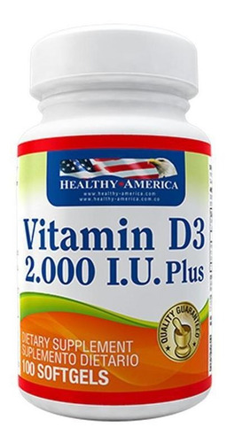 Vitamina D3 X 2000 Iu X 100 Soft - Healthy America