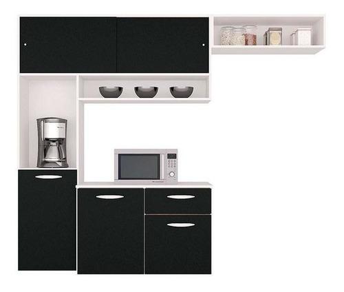 Cozinha Compacta Suspensa C/ Balcão Thais Brilho-poquema