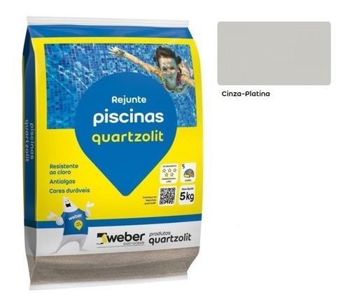 Kit 05 Sacos Rejunte Para Piscina 5kg Weber Quartzolit Cores
