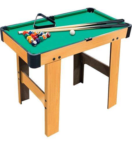 Mini Mesa De Sinuca Bilhar Snooker Portátil Brinquedo Com Pé