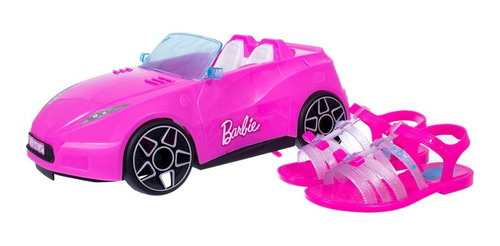 Sandália Kids Menina Grendene Barbie Car Rosa