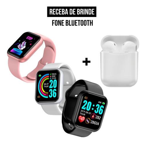 Relógio Digital D20 Original Masculino E Feminino + Fone