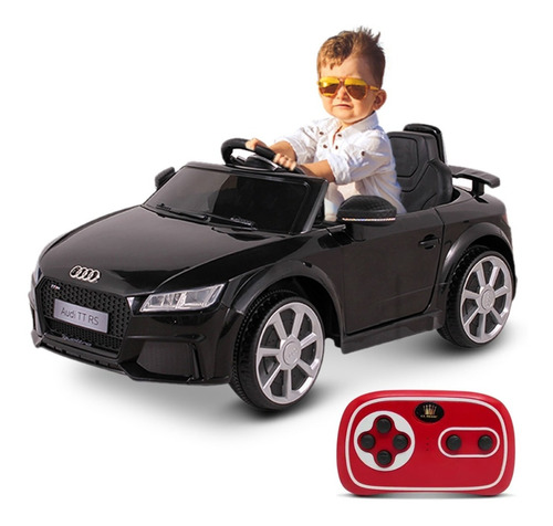 Carrinho Elétrico Infantil Audi Tt Preto 12v C/ Cont Belfix