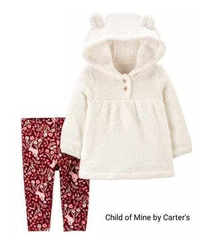 Conjunto  Carters Menina Blusa Capuz Soft Fleece Tam 5 Anos