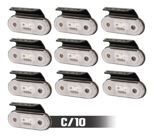 Lanterna Lateral Led Caminhão Carreta Baú C/ Sup (10 Unidad)