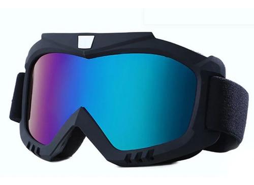Óculos Motocross Espelhado Prata Cores Capacete Otri04