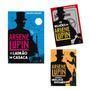 Kit 3 Livro Arsene Lupin Ladrão De Casaca Contra Bilhoes