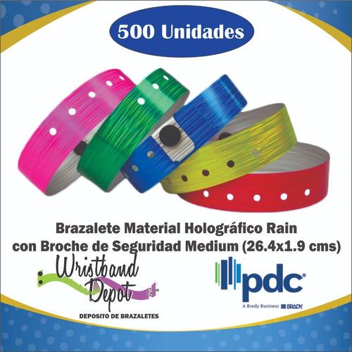 Brazalete Manilla Holográfica Rain Medium (500u.)
