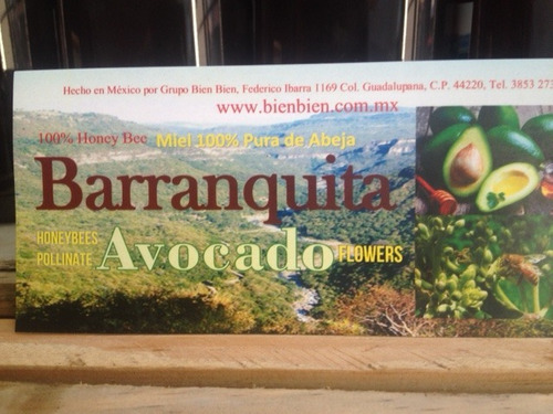 Miel De Abeja De Flor Aguacate. 100% Pura  Barranquita