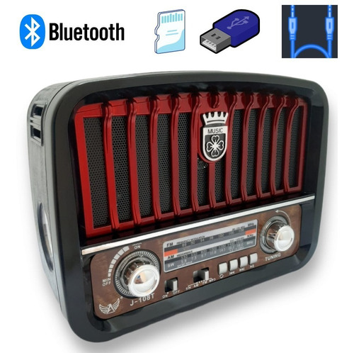 Radio Retro  Am/fm/entrada Usb/cartão Sd/aux/pendrive