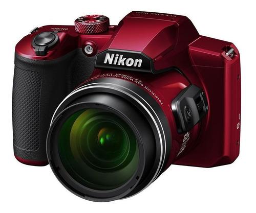 Camera Nikon Coolpix B600 Vermelho