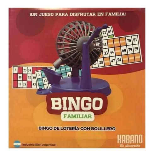Juego De Mesa Bingo Familiar Habano