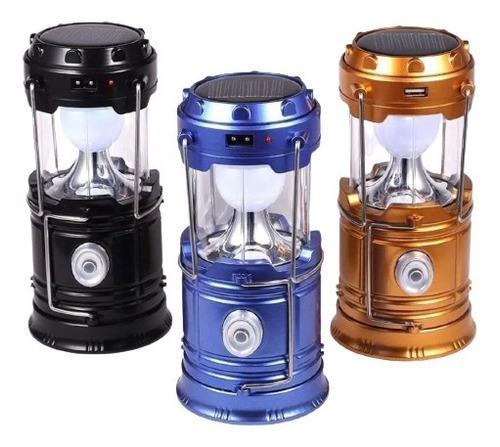 Lampião Lanterna Luminária Carregador Solar Camping Usb Led