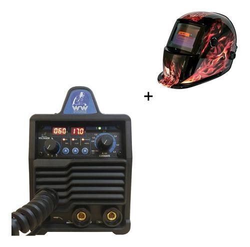 Maquina Multiprocesso Mig/tig/eletrodo 140a+ Mascara Caveira