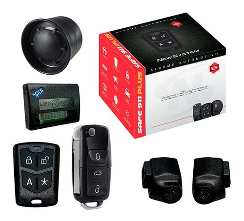 Alarme Automotivo Safe 911 Plus Chave Canivete - New System