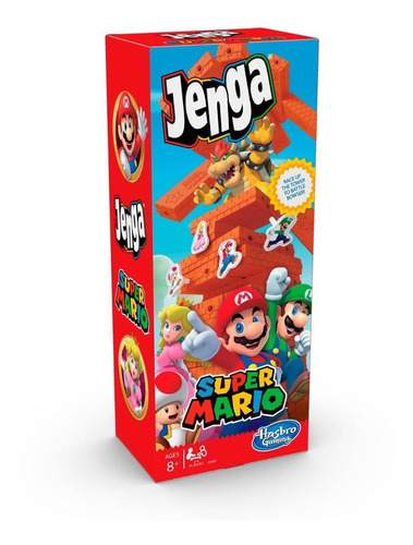 Juego Jenga Super Mario Hasbro Gaming Español