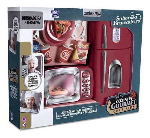 Cozinha Gourmet Chef Kids Geladeira + Micro Ondas Brinquedo